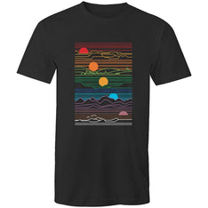 Men's Sun And Moon T-shirt - The Hippie House