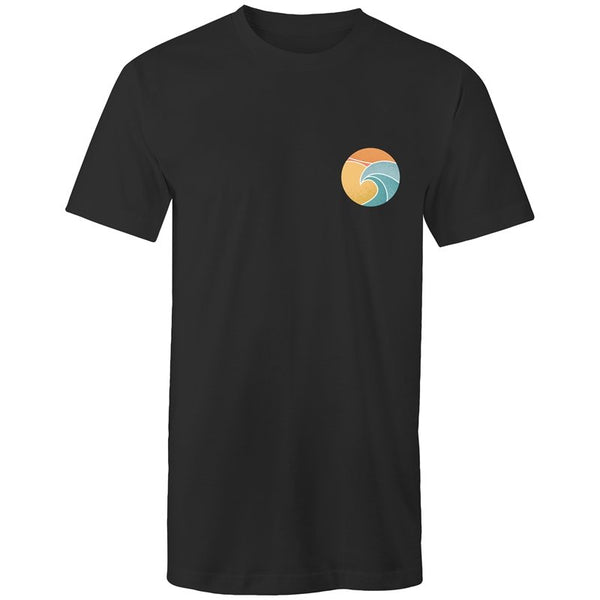 Men's Long Styled Beach Pocket Logo T-shirt - The Hippie House