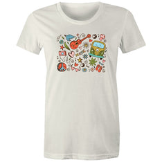 Women's Hippie Designed T-shirt - The Hippie House