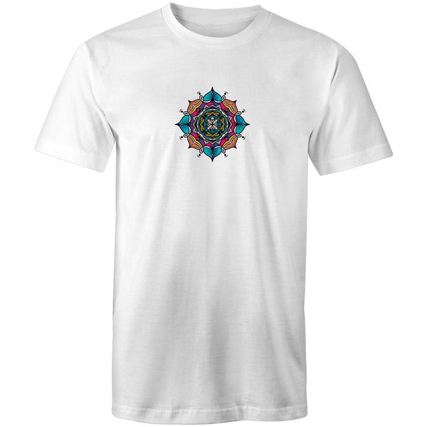 Men's Indian Mandala Lotus T-shirt - The Hippie House