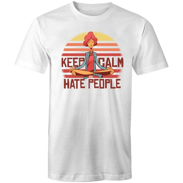 Men's Funny Keep Calm And Hate People T-shirt - The Hippie House