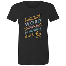 Women's Kind Words Quote T-shirt - The Hippie House