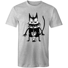 Men's Angry Cat Birthday Printed T-shirt - The Hippie House