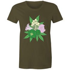 Women's Psychedelic Plants T-shirt - The Hippie House