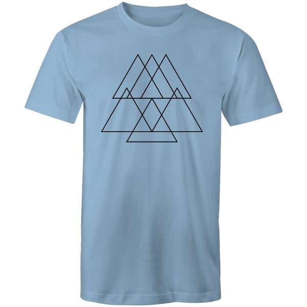 Men's Pyramid Geometry T-shirt - The Hippie House