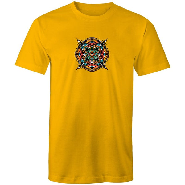 Men's Indian Mandala Pattern T-shirt - The Hippie House