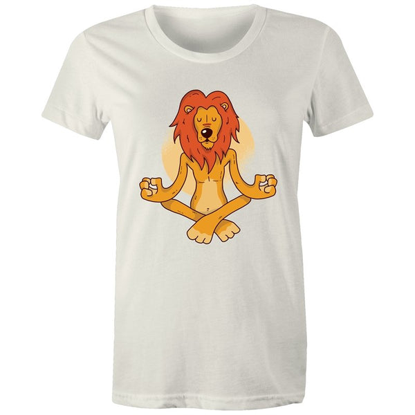 Women's Meditating Lion T-shirt - The Hippie House