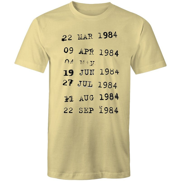 Men's Abstract Dates T-shirt - The Hippie House