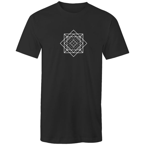 Men's Long Styled Skater Geometry T-shirt - The Hippie House