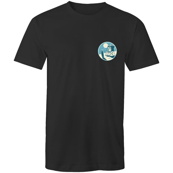 Men's Beach Logo Pocket T-shirt - The Hippie House