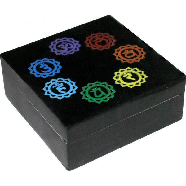 7 Chakra Soapstone Box - The Hippie House