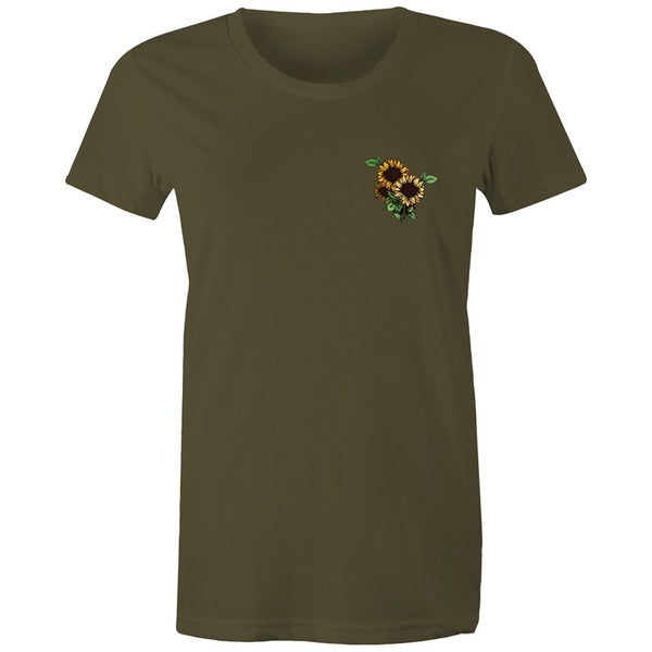 Women's Sunflower Pocket T-shirt - The Hippie House