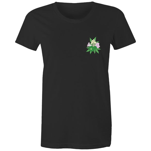 Women's Psychedelic Plant Pocket T-shirt - The Hippie House