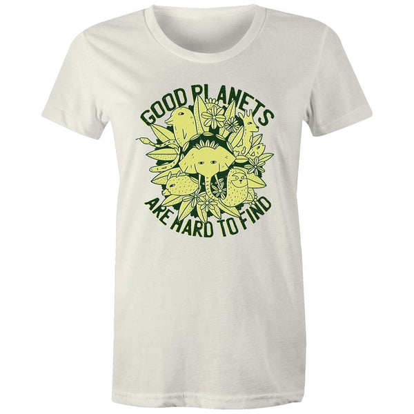 Women's Good Planets Are Hard To Find T-shirt - The Hippie House