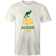 Men's Keep Calm And Aussie On T-shirt - The Hippie House