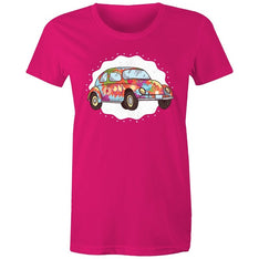 Women's Hippie Car T-shirt - The Hippie House