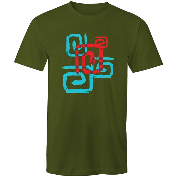 Men's Abstract Maze T-shirt - The Hippie House