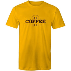 Men's Coffee Lettering T-shirt - The Hippie House