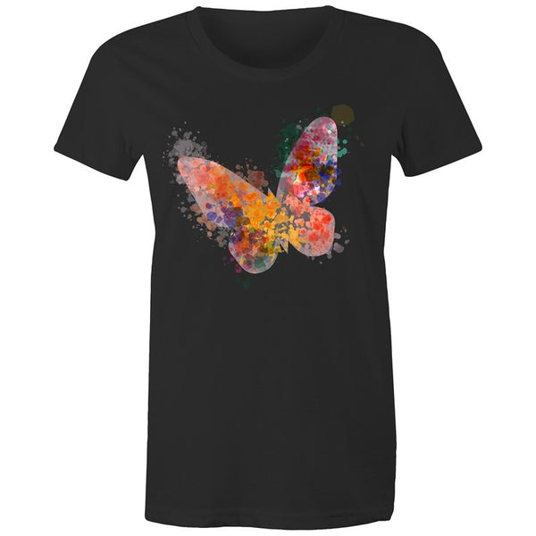 Women's Watercolour Butterfly T-shirt - The Hippie House