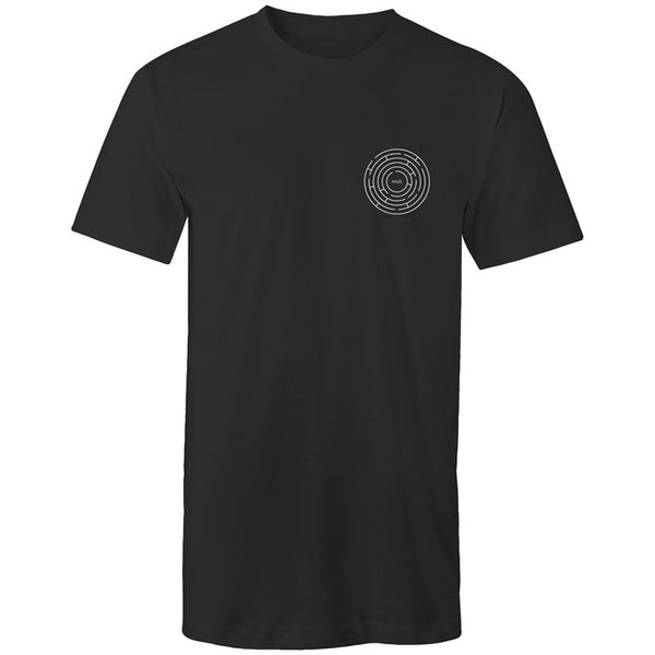 Men's Long Styled Maze Pocket T-shirt - The Hippie House