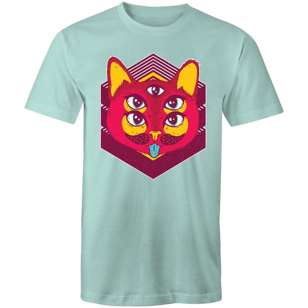 Men's Psychedelic Cat Eyes T-shirt - The Hippie House