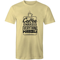 Men's Coffee Makes Everything Possible T-shirt - The Hippie House