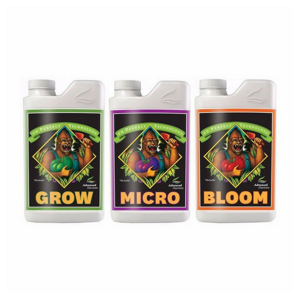 Advanced Nutrients pH Perfect 500ml Set - Grow + Micro + Bloom - The Hippie House