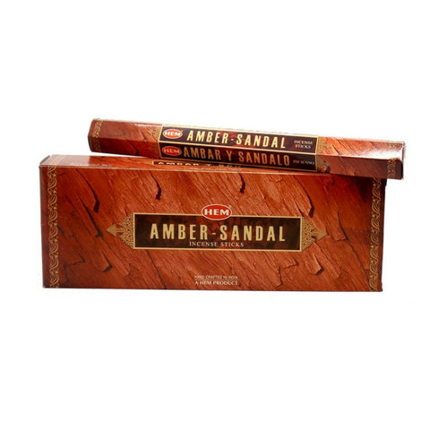 Amber Sandal Garden Incense Sticks - HEM - Box Of 6 - The Hippie House