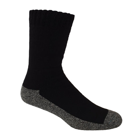 Black Bamboo Work Socks With Charcoal Sole - The Hippie House