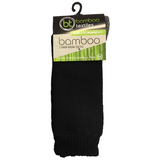 Black Bamboo Work Socks With Charcoal Sole - 2 Pack