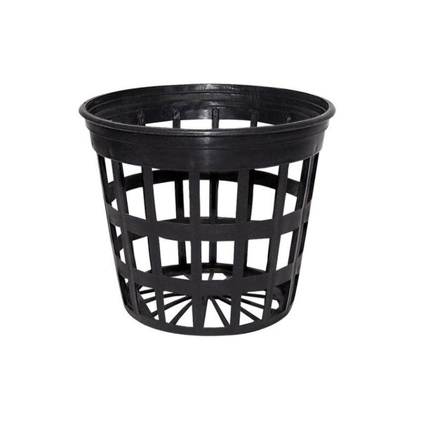 Black Net Pot With Large Holes - 200mm X 150mm - The Hippie House