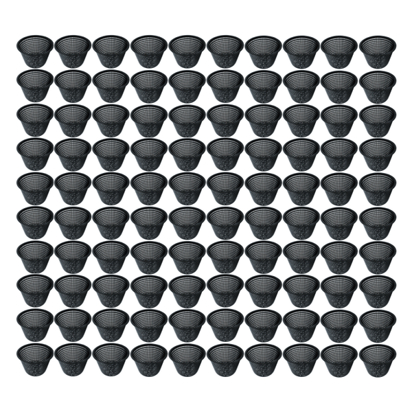 Black Net Pot - 80mm X 75mm - 100 Pack - The Hippie House