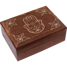 Blessing Hand Carved Wooden Box - The Hippie House