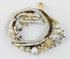 Bracelet White Gold Set - The Hippie House