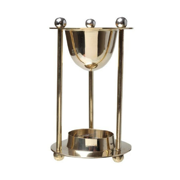 Brass Oil Burner Tower - The Hippie House