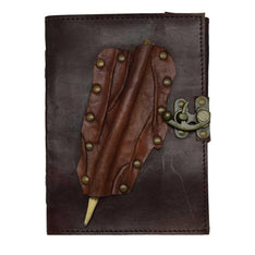 Brown Leather Journal With Pencil - The Hippie House