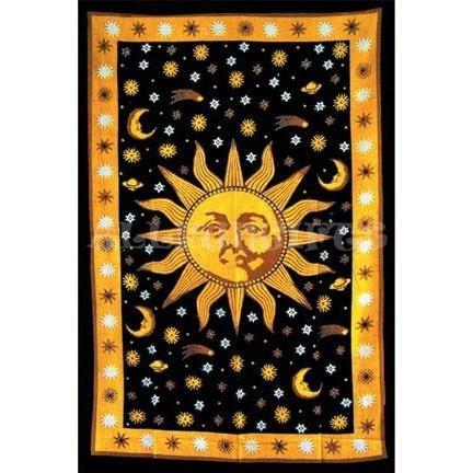 Celestial Sun Tapestry - The Hippie House