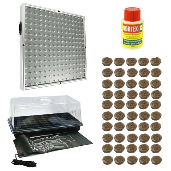 Coco Pellet Propagation Kit With LED Grow Light - For Seeds + Smaller Plants - The Hippie House