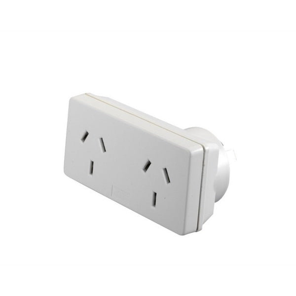 Double Adapter - Square With Right-Sided Plug - The Hippie House