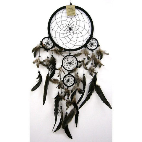 Black Dream Catcher - Traditional - The Hippie House