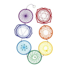 7 Hooped Chakra Dreamcatcher - 10cm x 90cm - The Hippie House