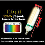Dual Spectrum Energy Saving CFL Grow Lamp - 130W - 2700K + 6400K - The Hippie House