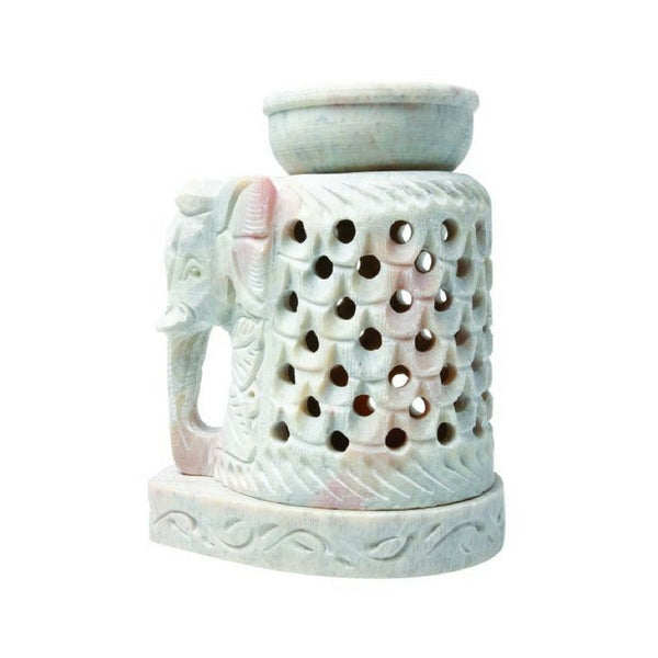 Elephant Soapstone Oil Burner - The Hippie House
