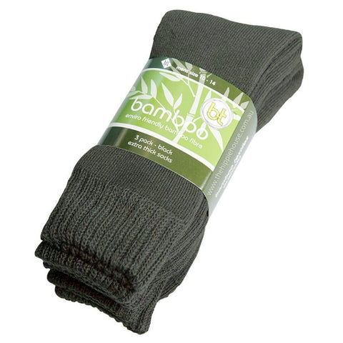 Extra Thick Army Green Bamboo Socks - 3 Pack - The Hippie House