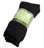 Extra Thick Black Bamboo Socks - 3 Pack - The Hippie House