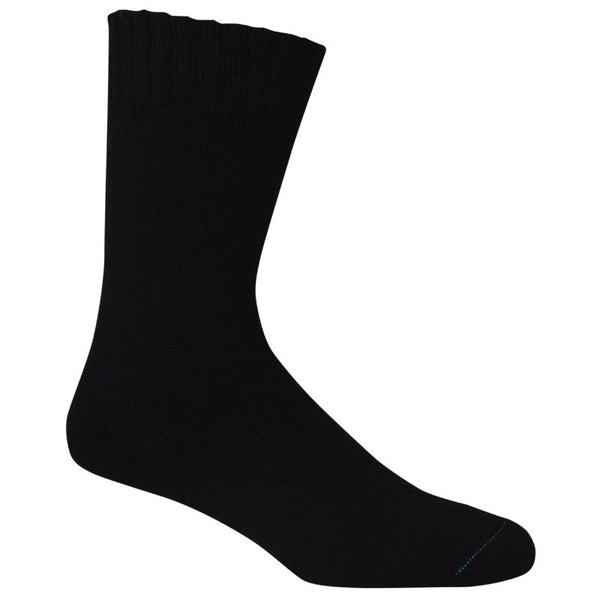 Extra Thick Black Bamboo Socks - The Hippie House