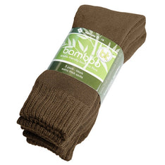 Extra Thick Brown Bamboo Socks - 3 Pack - The Hippie House