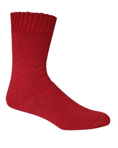 Extra Thick Fire Red Bamboo Socks - The Hippie House