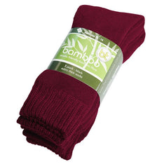 Extra Thick Maroon Bamboo Socks - 3 Pack - The Hippie House