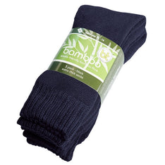 Extra Thick Navy Bamboo Socks - 3 Pack - The Hippie House